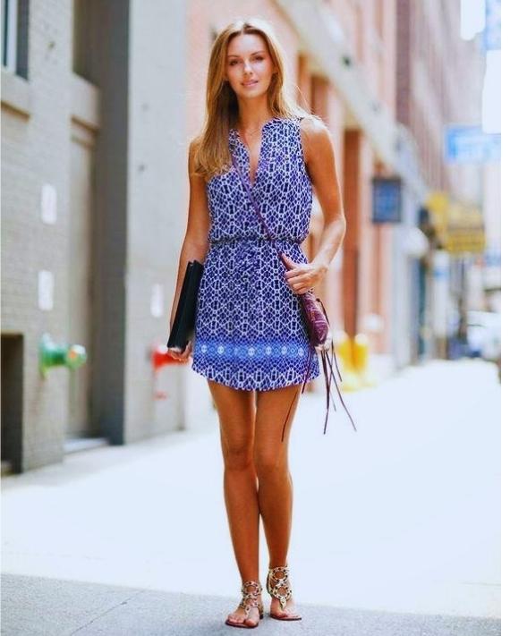 Lacivert Kolsuz Mini Elbise