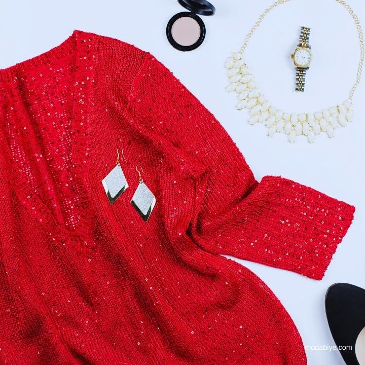 Kış Payetli Elbise Modelleri
