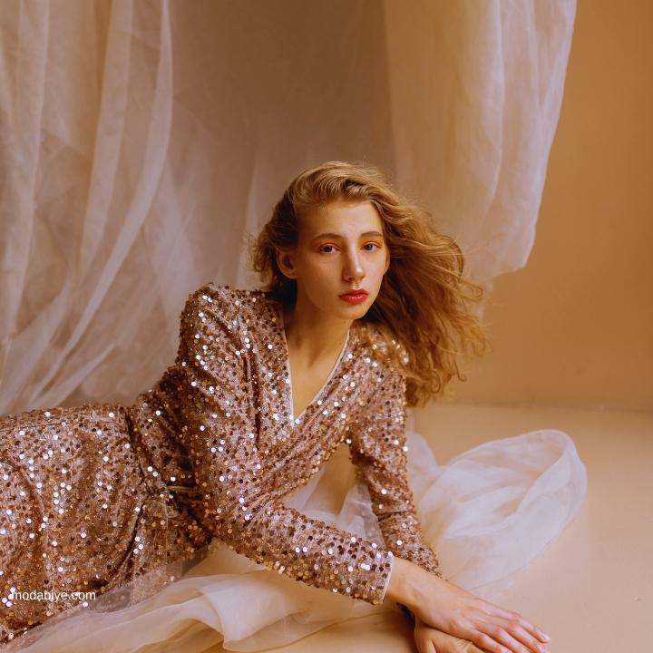 Payetli Elbise Modelleri